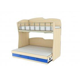 Двухэтажная кровать КДРП 1-51 Планета Луна 90х200