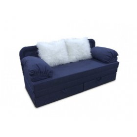 Диван Ника с меховыми подушками