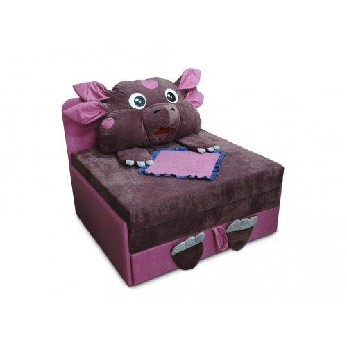 Детский диван Омега-аппликация Лунтик розовый
