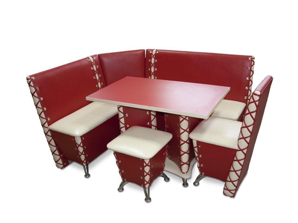 Кухонный уголок хромированный без стола фото