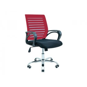 Кресло Флеш хром/М-1 красный