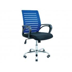 Кресло Флеш хром/М-1 синее