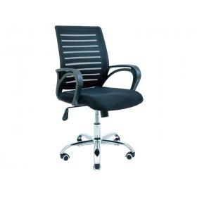 Кресло Флеш хром/М-1 чёрное
