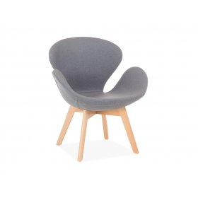 Кресло Сванни серое