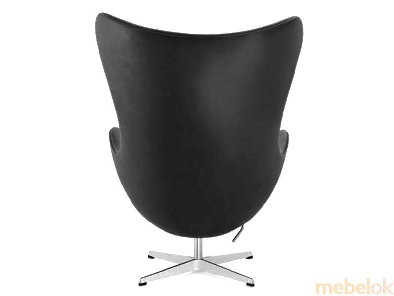Кресло ЭГГ кожа черный от фабрики SDM-group