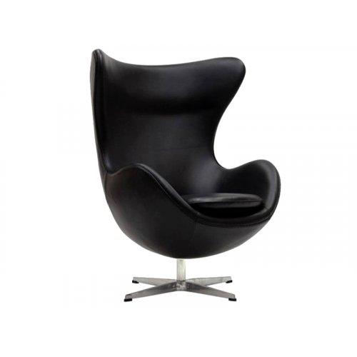 Кресло ЭГГ кожа черный