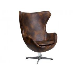 Кресло ЭГГ кожа коричневый