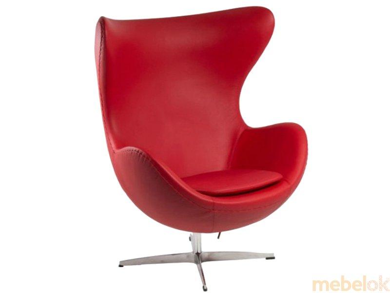 Кресло ЭГГ кожа красный от фабрики SDM-group