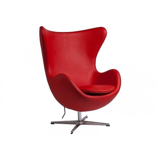 Кресло ЭГГ кожа красный