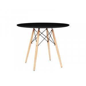 Стол обеденный Тауэр Вуд круглый черный диаметром 60 см