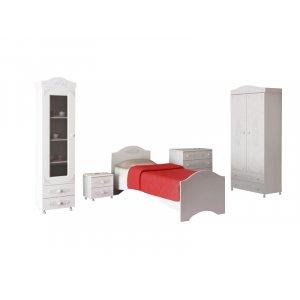 Білий спальний гарнітур Белль-3