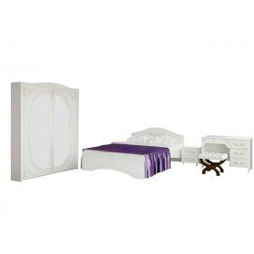 Белый спальный гарнитур Белль-7