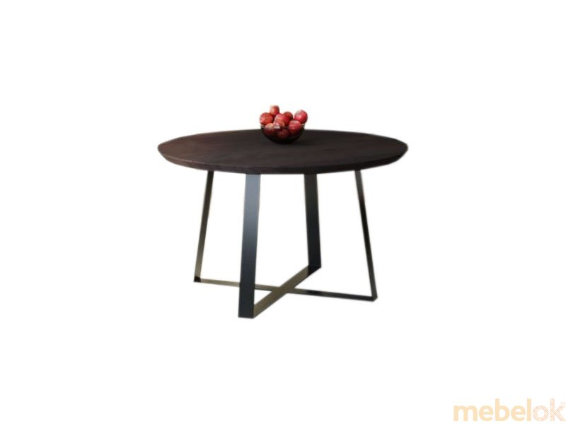Обеденный стол HG125 Гольстебро Круглый 75 ДСП Дуб Венге