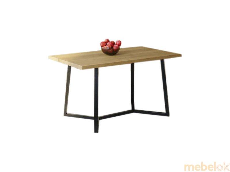 Обеденный стол HG122 Виборг 120 ДСП Дуб Светлый