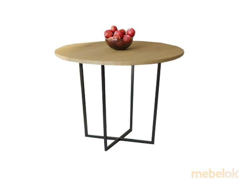 Обеденный стол HG142 Ольстикке Круглый 90 ДСП Дуб Светлый