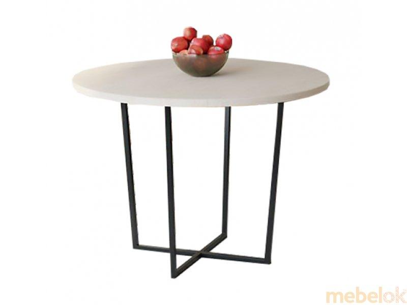 Обеденный стол HG142 Ольстикке Круглый 75 ДСП Дуб Белый