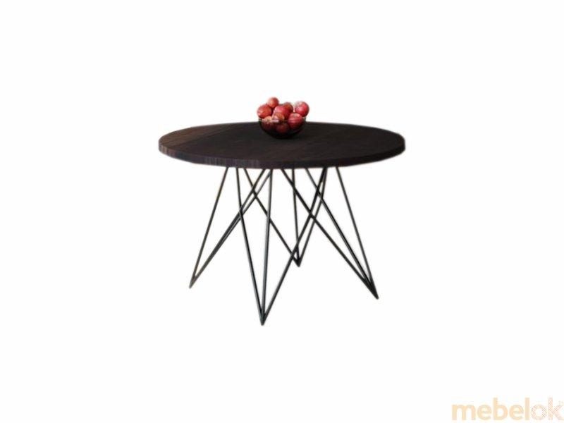 Обеденный стол HG144 Биркерьод Круглый 75 ДСП Дуб Венге