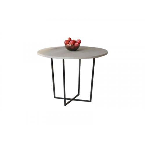 Обеденный стол HG142 Ольстикке Круглый 90 ДСП Дуб Серый