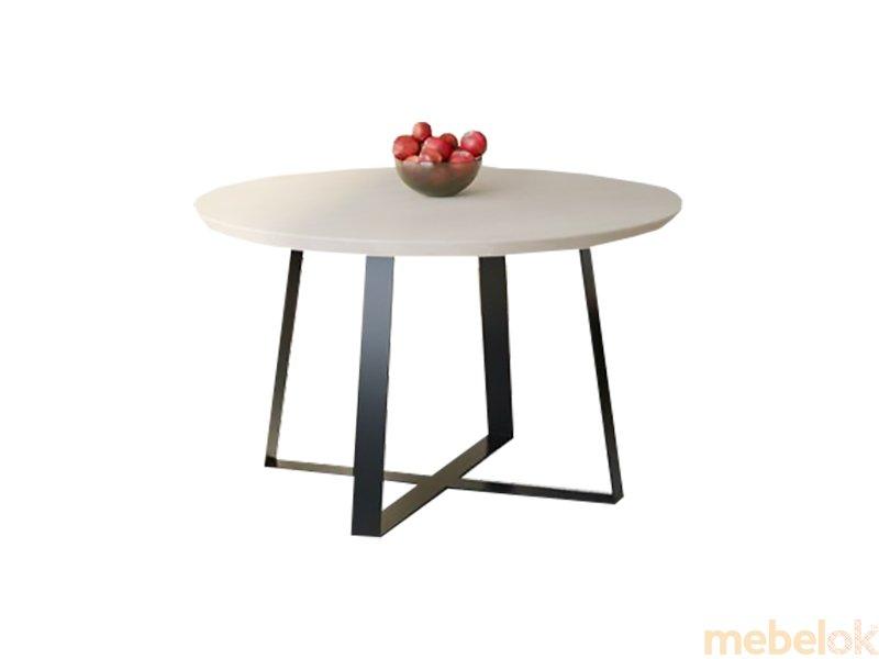 Обеденный стол HG125 Гольстебро Круглый 100 ДСП Дуб Белый