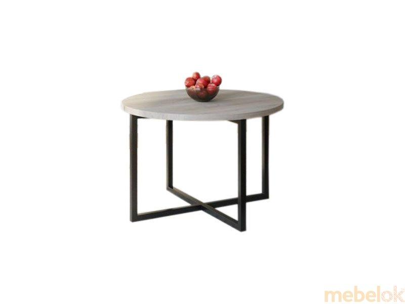 Обеденный стол HG117 Силькеборг Круглый 90 ДСП Дуб Серый