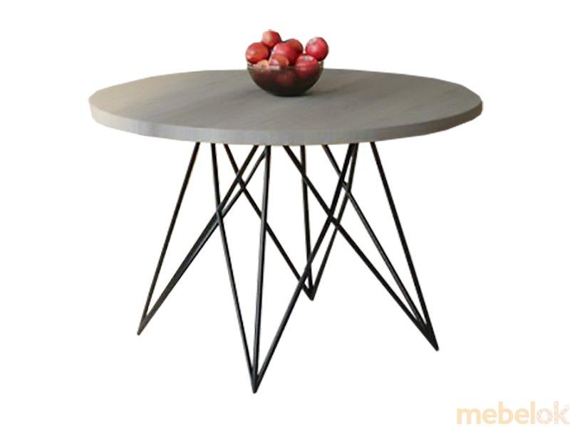 Обеденный стол HG144 Биркерьод Круглый 90 ДСП Дуб Серый