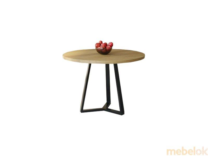 Обеденный стол HG106 Шарлоттенлунд Круглый 100 ДСП Дуб Светлый