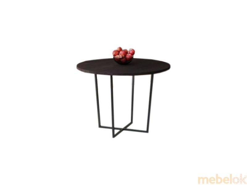 Обеденный стол HG142 Ольстикке Круглый 75 ДСП Дуб Венге