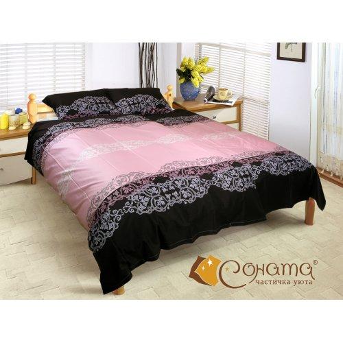 Двуспальный Евро комплект постельного белья Изольда