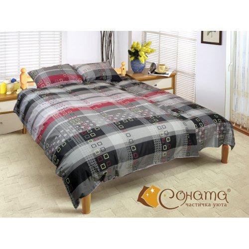 Двуспальный Евро комплект постельного белья Калгари