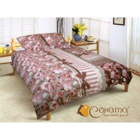 Двуспальный Евро комплект постельного белья Карла