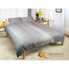 Двуспальный Евро комплект постельного белья Тильда