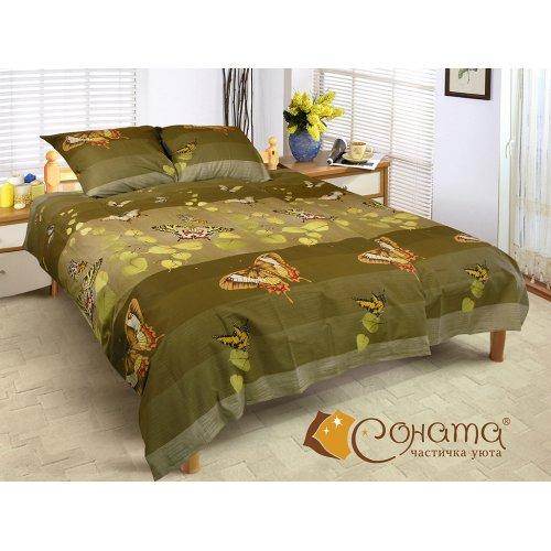 Двуспальный Евро комплект постельного белья Баттерфляй