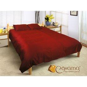 Двуспальный Евро комплект постельного белья Бордо