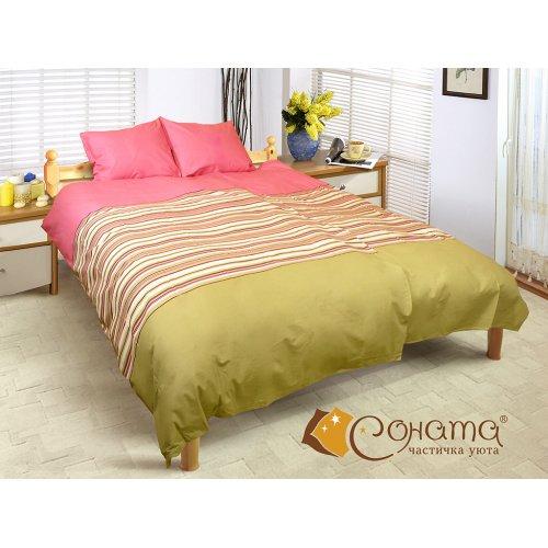 Двуспальный Евро комплект постельного белья Бритни