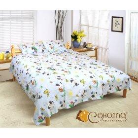 Полуторный комплект постельного белья Долматинец