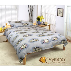 Полуторный комплект постельного белья Драйв 1