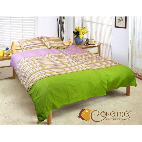 Двуспальный Евро комплект постельного белья Элеф