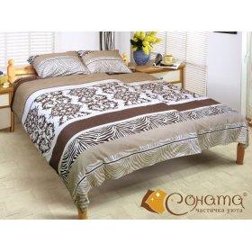 Двуспальный Евро комплект постельного белья Карина
