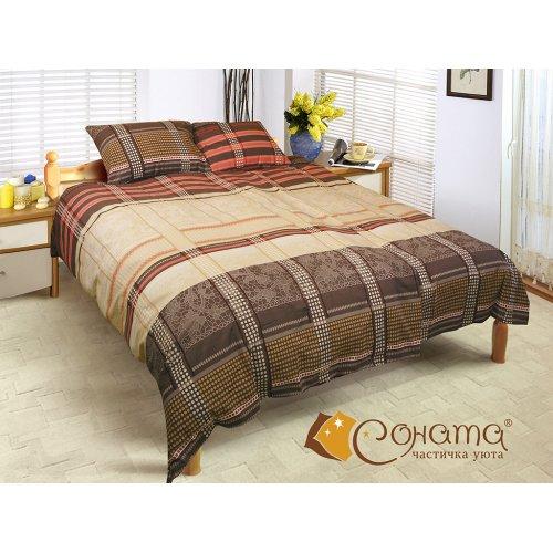 Двуспальный Евро комплект постельного белья Кристи
