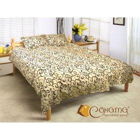 Двуспальный комплект постельного белья Любава Беж