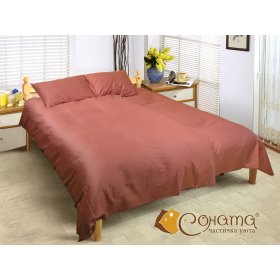 Двуспальный Евро комплект постельного белья Мелисса