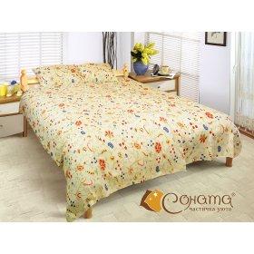 Двуспальный Евро комплект постельного белья Мери