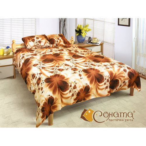Двуспальный Евро комплект постельного белья Моана