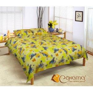 Полуторный комплект постельного белья Мото