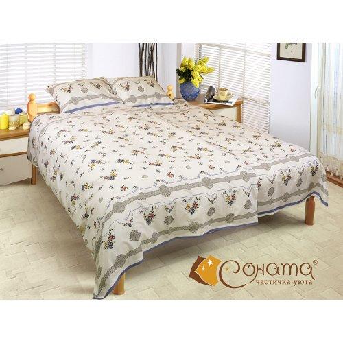 Двуспальный Евро комплект постельного белья Нита