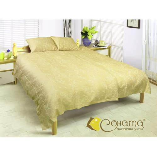 Двуспальный Евро комплект постельного белья Рамона