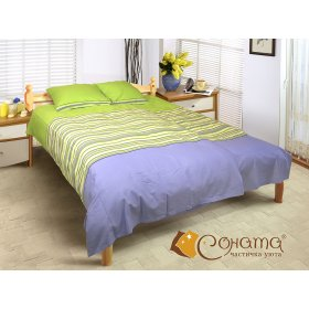 Двуспальный Евро комплект постельного белья Софти
