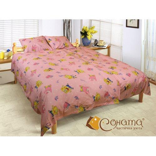 Детский полуторный комплект постельного белья Спонж Боб