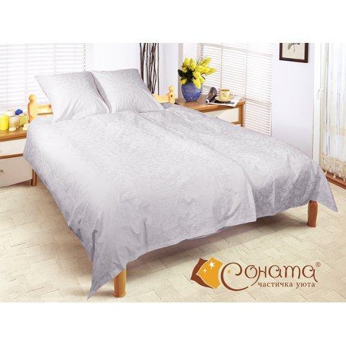 Двуспальный Евро комплект постельного белья Юлиана
