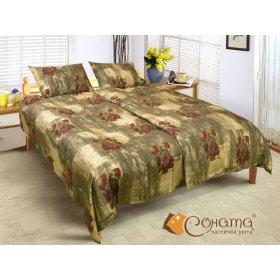 Двуспальный Евро комплект постельного белья Венеция
